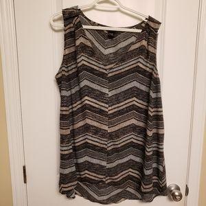 Torrid striped blue, black & white sleeveless top